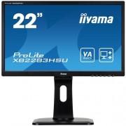 Monitor iiyama XB2283HSU-B1DP, 22'', LCD, 5ms, 3000:1(12M:1 ACR), FHD,VGA, DVI, DP, 3xUSB, repro, pivot, výšk.nastav.