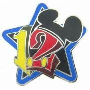 AST Works 2012 Disney Stars Mini Pin Collection Black Star Pin