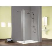 Schulte Home Paroi de douche fixe à l'italienne Walk In Solo avec volet pivotant, 120 cm, anticalcaire, transparent