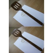 Slotted Spatula Stunning Hand crafted Coco Wood kitchen Utensil