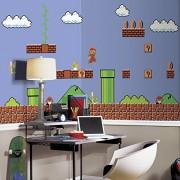 RoomMates Super Mario JL1331M Mural de pared extraíble, color negro