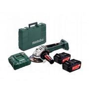 METABO Smerigliatrice Angolare A Batteria Wb 18 Ltx 125 Quick Con Kit Batterie 2x5.5ah