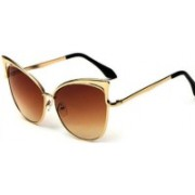 Delonbo Cat-eye Sunglasses(Brown)