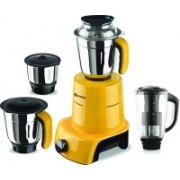 Sunmeet MG17-TA-Gla-89 600 W Juicer Mixer Grinder(Yellow, 4 Jars)