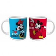 Minnie en Mickey Mouse bekers blauw en rood
