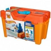 Mattel Hot Wheels - Track Builder System Barrel Box Pista con bersaglio