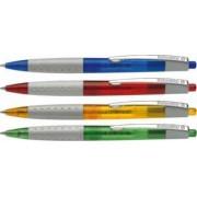 Pix SCHNEIDER Loox rubber grip clema metalica culori asortate scriere albastra
