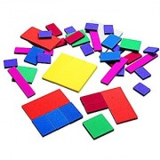Didax Educational Resources Fraction Squares-Easy shapes