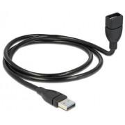 Cavo semi-rigido USB3.0 A Maschio / A Femmina 50cm Nero