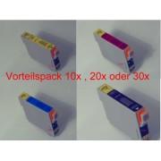 10 Tintenpatronen kompatibel f. Epson Stylus D78 D92 SX 100 105 110 115 200 205 210 215 218 400WFI 405 410 415 510W 515W 600FW 610FW S20 S21