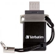 Stick USB Verbatim Dual Drive OTG, 64GB, USB 2.0/microUSB (Negru)