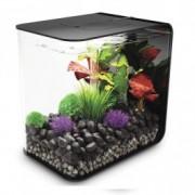 Set complet acvariu cu decoratiuni BiOrb Flow 30 litri LED, Negru