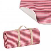 [casa.pro] Piknik pléd / takaró - 200x147cm - piros/fehér