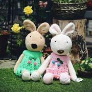 MANGMOC Muñeca de peluche con forma de conejo disfrazado de conejo, peluche, juguete para niños, juguete para niñas y niños, regalo imprescindible para niños de 1 año de edad, regalos de película favorita, 25 One 90cm White, one 90cm white