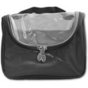 Italish Portable Cosmetic Make Up Toiletries Bag Organizer Travel Toiletry Kit(Black)