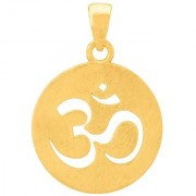Dare by Voylla Gold Plated Circle OM Pendant By Spiritual Saga