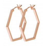 CLUSE Oorbellen Essentiele Hexagonal Hoop Earrings Roségoudkleurig