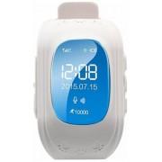 "Smartwatch Cronos Kids Q50, OLED Capacitive touchscreen 0.96"", Bluetooth, Bratara silicon, 2G, Functie telefon, Dedicat pentru copii (Alb)"