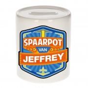 Bellatio Decorations Kinder cadeau spaarpot voor een Jeffrey