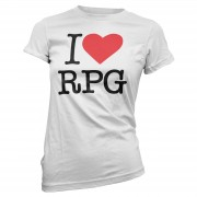 The Gaming Collection Camiseta I Love RPG - Mujer - Blanco - S - Blanco