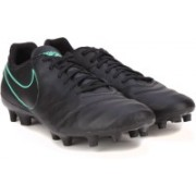 Nike TIEMPO GENIO II LEATHER FG Football Shoes(Black)