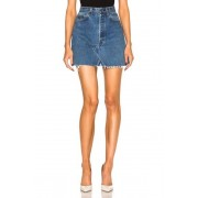RE/DONE High Rise Mini Skirt in Blue. - size 26 (also in 24,25,27,28,29,30,31,32)