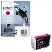 Мастилена касета Epson T7603 Vivid Magenta/Червен, C13T76034010