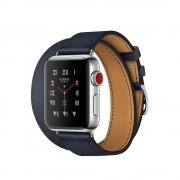 Умные часы Apple Watch Hermes Series 3 38mm with Double Tour Indigo Swift Leather MQLK2