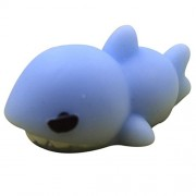 Fansport Squishy Toy Novelty Squishy Squeeze Toy Stress Relief Slow Rising Toy Soft Fun Toy One Size Sky Blue Shark