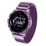 D18 1.08-inch Screen Smart Bracelet Heart Rate Female Physiological Reminder for IOS Android - Purple