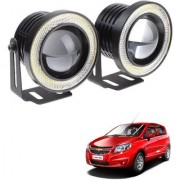 Auto Addict 3.5 High Power Led Projector Fog Light Cob with White Angel Eye Ring 15W Set of 2 For Chevrolet Sail UVA