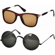 Billion Spectacle , Round Sunglasses(For Boys & Girls)