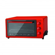 Cuptor electric Hausberg HB 9520R, 1800W, 42 L, timer, termostat, rezistente inox, Rosu