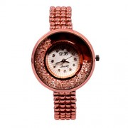 CREATOR db Stone Inserted Dial And Design Strap Watch for Women And Girls