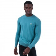 Pretty Green Men-apos;s Pretty Green Seasonal Hinchcliffe Crew Knit en bleu 2XL