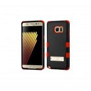 Funda Protector Triple Layer Uso Rudo Samsung Galaxy Note 7 Negro Rojo C/pie Metalico