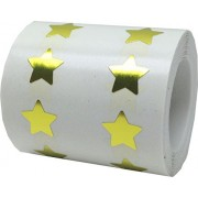 """Tiny 1/2"""" Inch Gold Star Stickers Used For Teacher Stickers and Award Stickers. Gold Stars Are Adhesive Stars And Are Apparel Safe. Sticker Stars Are Fun and Easy To Peel And Apply. 1,000 Total Star Stickers"""