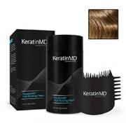 KeratinMD HAIR BUILDING FIBERS (Light Brown) + FREE APPLICATOR COMB VALUE PACK