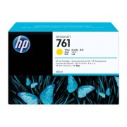 HP Cartucho de Tinta Original HP 761 de 400 ML CM992A Amarillo para DesignJet T7100, T7200 Production Printer