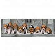 Puzzle 1000 Piezas Perritos cachoros Panoramico - Clementoni
