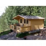 Cabaña de madera Tulipan 380x380 cm para Jardín