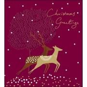 5 kerstkaarten woodmansterne - christmas greetings - hert ree