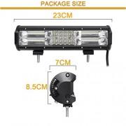 "AST Works 12"" inch LED Quad-Row Work Light Bar Flood Spot Combo Car Truck SUV 4WD Off Road"