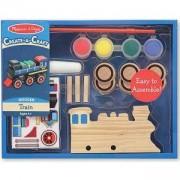 Креативен комплект - Направи и оцвети дървен влак, 14576 Melissa and Doug, 000772145763