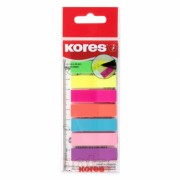 Index Plastic 12 x 45 mm 8 Culori x 25 File Kores Index plastic 45x12 mm 8