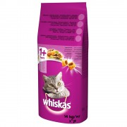 14кг 1+ Whiskas, суха храна за котки с говеждо
