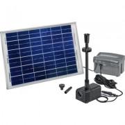 Napelemes szivattyú rendszer Siena LED Esotec 101780 Akkubox-szal 12 V/7 Ah, LED fénygyűrű (551149)