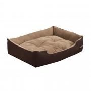 [en.casa]® Легло за кучета и котки , 65 x 48 x 18 см, Кафяв