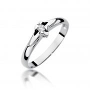 Biżuteria SAXO 14K Pierścionek z brylantem 0,04ct W-88 Białe Złoto RATY 0% | GRATIS WYSYŁKA | GRATIS ZWROT DO 1 ROKU | 100% ORYGINAŁ!!