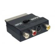 37.404 EUROCONECTOR A 3 RCA HEMBRA Y MINI DIN 4 PINES